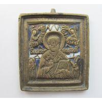 Икона Св.Николай,Литье,Эмали,С РУБЛЯ