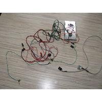 Провода с диодами USB портом спикер