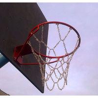 Баскетбольная СЕТКА (не кольцо) металлическая стритбольная (антивандальная).