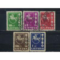 Литва Респ 1937-39 Герб  #413-6,432