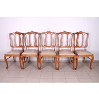 Комплект из 5 стульев.Стиль Чиппендейл.