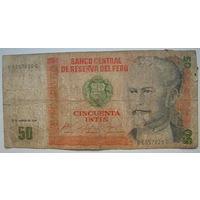 Перу 50 инти 1986 г.