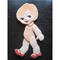Кукла плоская,шарнирная (нет правой руки.)