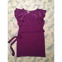 Платье DONNA MORGAN  шелковое фиолетовое