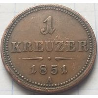 Австрия 1 крейцер, 1851      A       ( 6-9-1 )