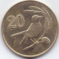 Кипр,  20 центов 1985 года.