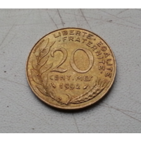 20 сантимов 1992 г. Франция