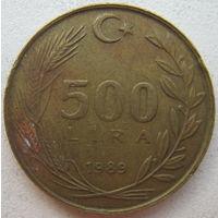 Турция 500 лир 1989 г. (g)