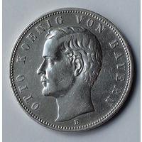 Германия - Германская империя. Бавария 5 марок. 1904. D