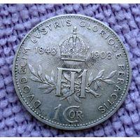 Австро-Венгрия. 1 крона 1908 г.