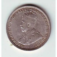 Британская Западная Африка. 1 шиллинг 1913 г. ( серебро )