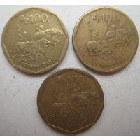 Индонезия 100 рупий 1994, 1996, 1998 гг. Цена за 1 шт. (g)