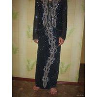 Индийский вечерний костюм (платье+блуза)