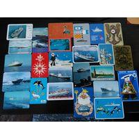 Календарики ссср корабли
