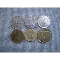 Азия 6 монет одним лотом