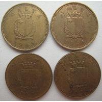 Мальта 1 цент 1995, 1998, 2001, 2004 гг. Цена за 1 шт. (v)