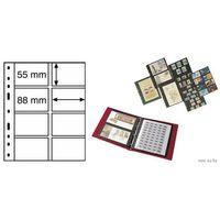 Лист OPTIMA 4VS в альбом для бон и телефонных карточек, на 8 ячеек. Leuchtturm.  распродажа