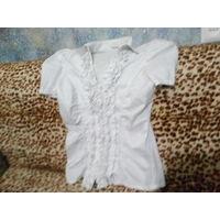 Блузка белая женская