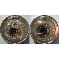 Бельгия, 2 евро 2007 50-летие подписания Римского договора. UNC.