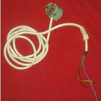 Шнур с вилкой для аппаратуры 3х0,75 Длина 1,9 м. Двойная изоляция.