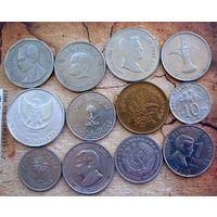 Азия. 12 монет - 12 разных стран.