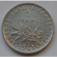 Франция, 1 франк 1968 г.