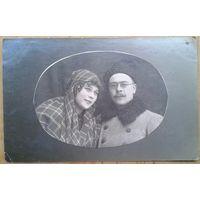Фото семейной пары. 1923 г. 9х14 см.