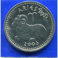 Сомалиленд 10 шиллингов 2006 UNC , Овен