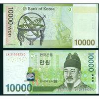 Южная Корея 10000 вон (2007) UNC