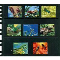 Пчела Стрекоза Насекомые Фауна 1969 Бутан MNH 3D стерео 8 м полная серия ЛОТ РАСПРОДАЖА