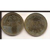 Колумбия 100 песо 2016 фрайлехон или эспелеция флора UNC
