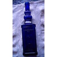 Германия. Бутылка из синего стекла. декоративная. 0.5л. Стекло. распродажа