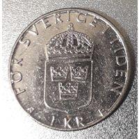 Швеция, 1 крона, 1998 год, медь-никель