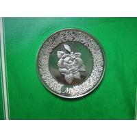 США. Franklin Mint 1979. 925пр. 11гр.  Серебряное блюдце М .      S.6