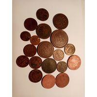 Монеты РИ с 1758, 19 шт., с 1 рубля