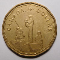 Канада. 1 доллар 1995г.Памятник миротворцам.