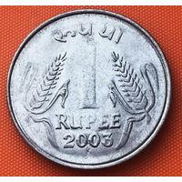16-08 Индия, 1 рупия 2003 г. Калькутта