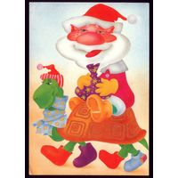 1990 год И.Филиппова Дед Мороз и змей