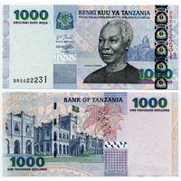 Танзания. 1000 шиллингов (образца 2006 года, P36b, UNC)