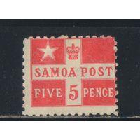 Самоа Британо-американо-германское совместное управление 1894 Частная почта Девиса Флаг Стандарт #18*