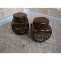 Набор банок для специй, керамика (корица, гвоздика), 2 шт. * 0,25 л