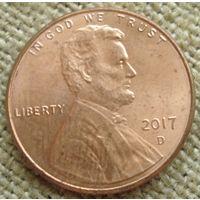 1 цент 2017 D США