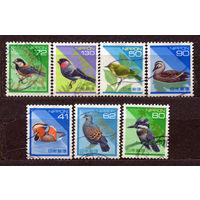 Фауна. Птицы. Стандарт. Япония. 1989. Серия 7 марок.