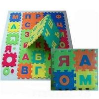 Коврик - пазл Алфавит большой разноцветный - 36 элементов. Отличное качество. Новый в упаковке. Недорого!
