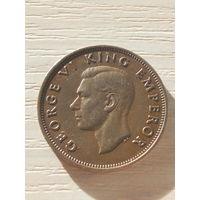 Новая Зеландия 1/2 пенни 1947г.