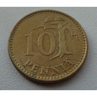 10 пенни Финляндия 1971 г.в. KM# 46, 10 PENNIA, из коллекции