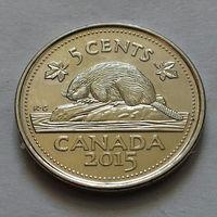 5 центов, Канада 2015 г., магнит, UNC