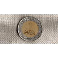 Египет 1 фунт 2008 биметалл/Qu/