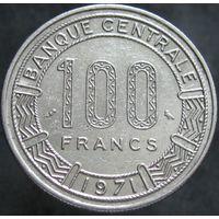 Конго 100 франков 1971 нечастая, сохран