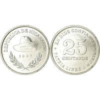 Никарагуа 25 сентаво 1987 UNC